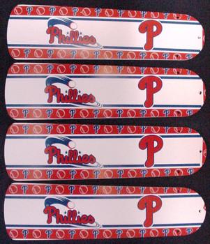 """MLB Philadelphia Phillies Baseball Ceiling Fan 42"""" Blades Only 1"""