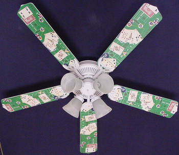 "Poker Cards Casino Craps Black Jack Ceiling Fan 52"" 1"