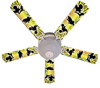 """Kids Baja Mx Motocross Ceiling Fan 52"""" 1"""