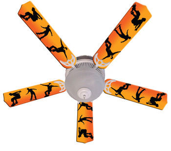 "Kids Radical Skateboards Ceiling Fan 52"" 1"