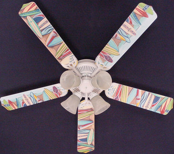 "Hawaiian Surfboards Ceiling Fan 52"" 1"