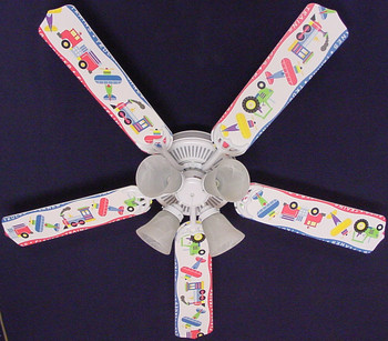 "Planes Trains Trucks Ceiling Fan 52"" 1"