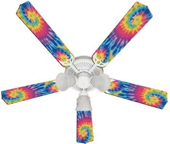 """Psychedelic Tye Dye Funky Tie Ceiling Fan 52"""""""