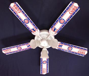 "MLB Chicago Cubs Baseball Ceiling Fan 52"" 1"