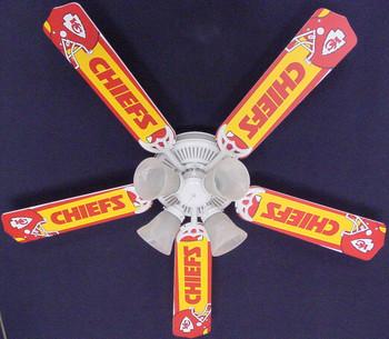 "NFL Kansas City Chiefs Ceiling Fan 52"" 1"