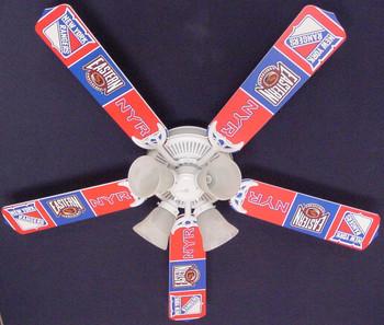 "NHL New York Rangers Hockey Ceiling Fan 52"" 1"