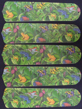 """Rainforest Frogs Frog 52"""" Ceiling Fan Blades Only 1"""