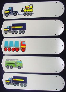 """Tonka Trucks 52"""" Ceiling Fan Blades Only 1"""