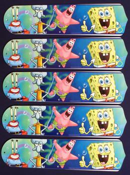 "Sponge Bob Square Pants 52"" Ceiling Fan Blades Only 1"