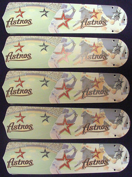 "MLB Houston Astros Baseball 52"" Ceiling Fan Blades Only 1"
