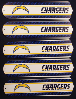 """NFL San Diego Chargers Football 52"""" Ceiling Fan Blades Only 1"""