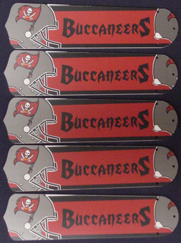 "NFL Tampa Bay Buccaneers Bucs 52"" Ceiling Fan Blades Only 1"