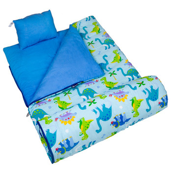 Wildkin Olive Kids Dinosaur Land Original Sleeping Bag