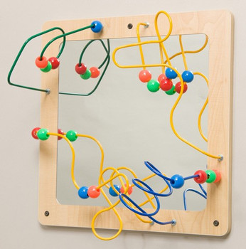 Mirror and Bead Wall Toy