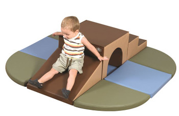 Cozy Woodland Brook Overpass Soft Play Climber