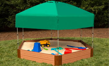 Hexagon Sandbox w/ Telescoping Canopy & Cover  1