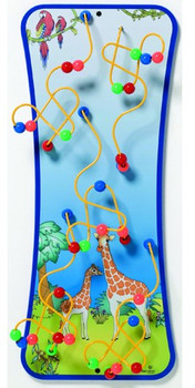 Animal Families Wire and Bead Maze Wall Toy