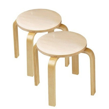 Wooden Stools - Set of 2