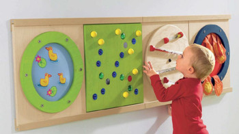 """Shown with other play panels and 2 - 32"""" rail sets"""