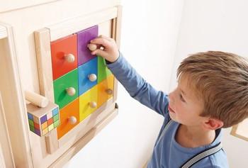 Sensory Wall - Colorful Squares Wall Game