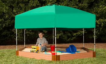 Hexagon Sandbox w/ Telescoping Canopy & Cover