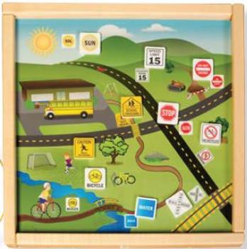 Language Magnetic Wall Game