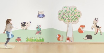 Interactive Wooden Play Wall Collection
