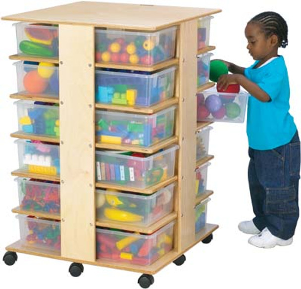 Jonti-Craft 24 Cubbie Tower - with tubs 1