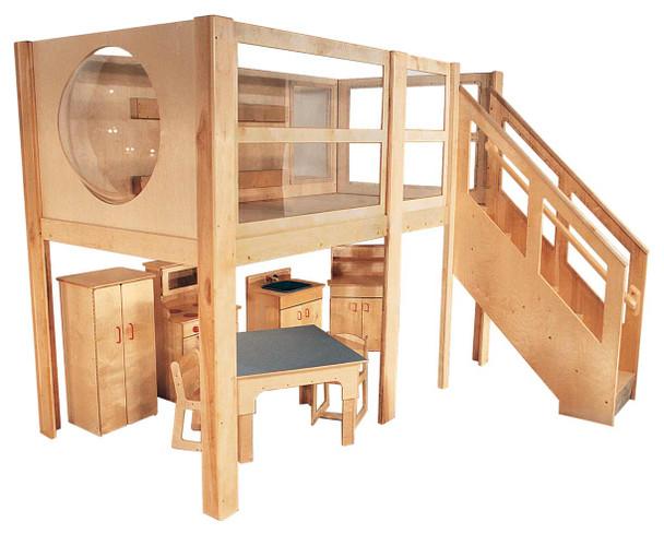 Mainstream Explorer 5 Expanded School Age Loft, 120''w x 60''d x 60''h deck (Preschool version 1