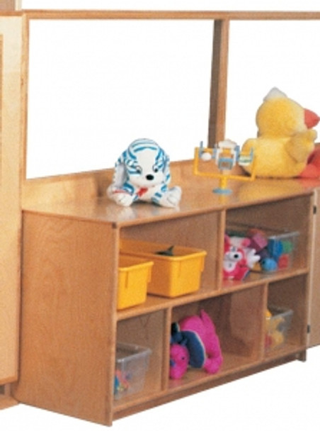 Deluxe Divider with 24''h Storage & Divided Shelves, 60''w 1