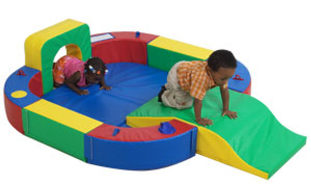 Children's Factory Play Ring with Tunnel and Slide 1