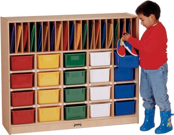 Jonti-Craft Classroom Organizer - 20 - with Trays 1