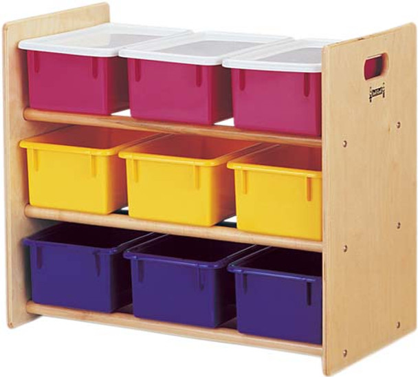 Jonti-Craft Tote Storage Rack - 9 Tray with Trays 1