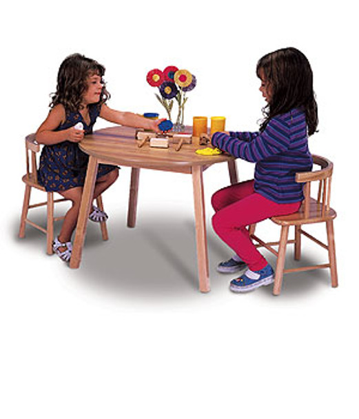 Whitney Brother Wooden Kids Table & 2 Chairs Set 1