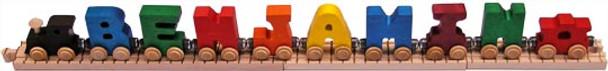 Maple Landmark Wooden Name Train - Primary Colors 1