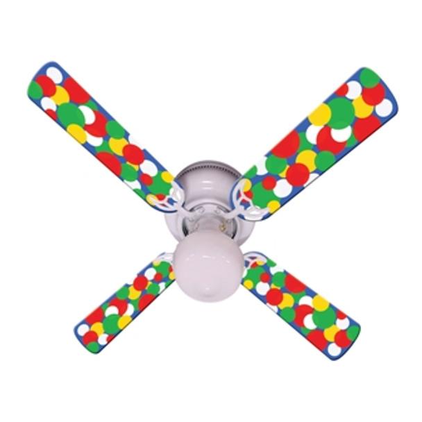 """Kids Light Bright Dots Ceiling Fan 42"""" 1"""