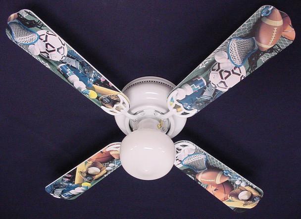 "Soccer Football Baseball Sports Ceiling Fan 42"" 1"