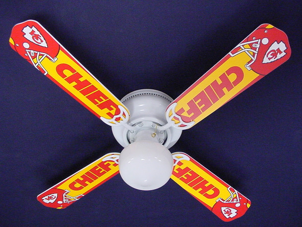 "NFL Kansas City Chiefs Ceiling Fan 42"" 1"
