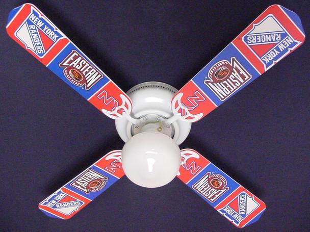 "NHL New York Rangers Hockey Ceiling Fan 42"" 1"