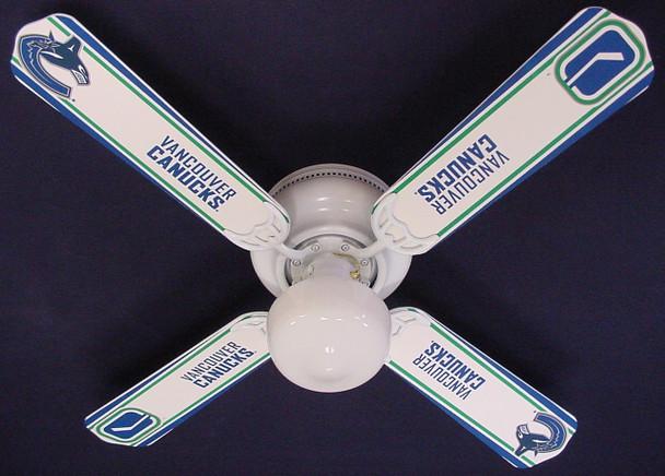 "NHL Vancouver Canucks Hockey Ceiling Fan 42"" 1"