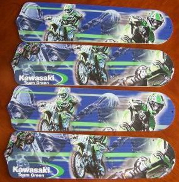 """Motocross Kawasaki Ceiling Fan 42"""" Blades Only 1"""