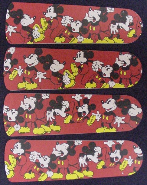 """Disney Mickey Mouse #1 Ceiling Fan 42"""" Blades Only 1"""