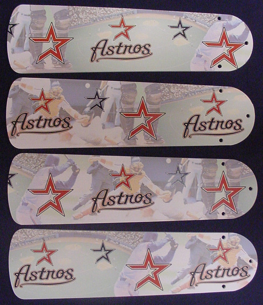 "MLB Houston Astros Baseball Ceiling Fan 42"" Blades Only 1"