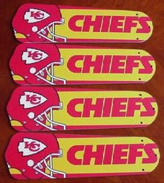 """NFL Kansas City Chiefs Ceiling Fan 42"""" Blades Only 1"""