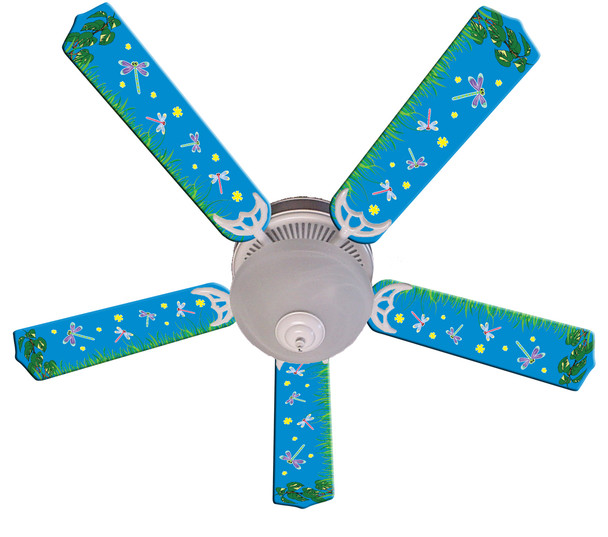 """Kids DragoNFLies & Fireflies Ceiling Fan 52"""" 1"""
