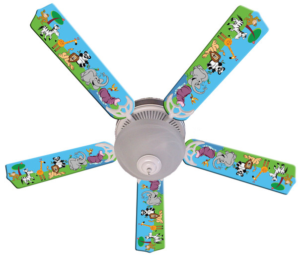 """Jungle Party Animals Ceiling Fan 52"""" 1"""