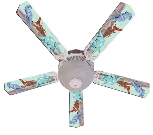 "Kids Dinosaur Dino Land Ceiling Fan 52"" 1"