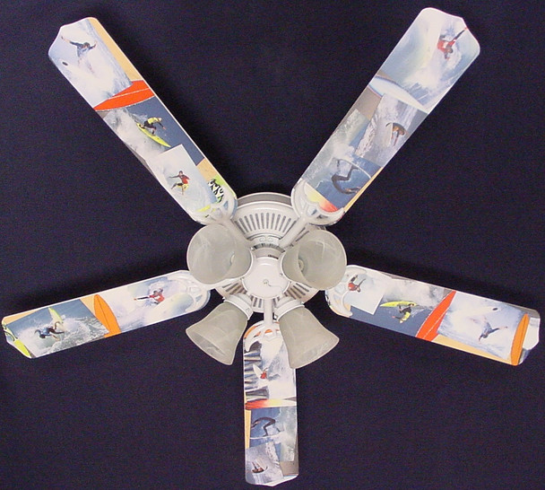 """Radical Surfing Surf Waves Ceiling Fan 52"""" 1"""