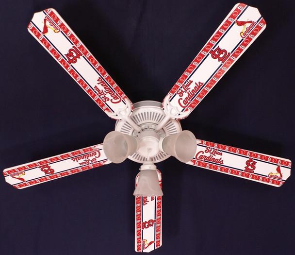 "MLB St. Louis Cardinals Baseball Ceiling Fan 52"" 1"