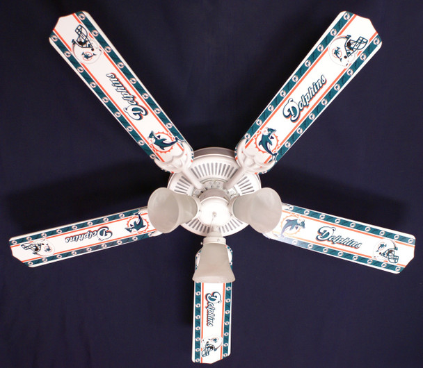 "NFL Miami Dolphins Football Ceiling Fan 52"" 1"